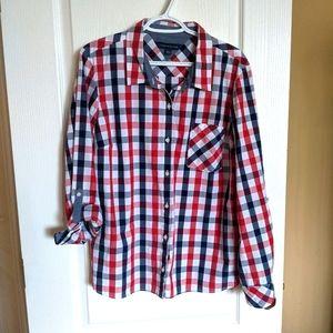 Tommy Hilfiger button-up plaid dress shirt